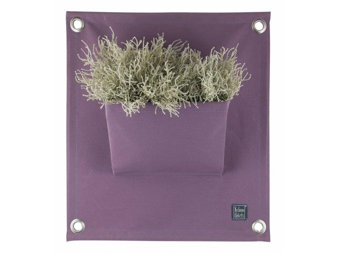 Gardners.cz Kapsář na rostliny THE GREEN POCKETS AMMA 50x45 cm, levandulová