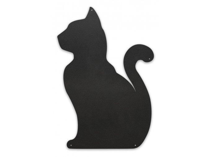 Magnetická tabule 56x38 cm kočka, černá