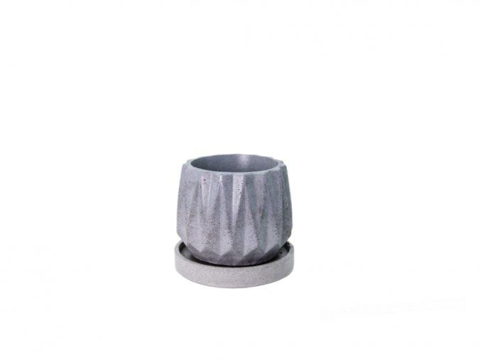Betonový obal Uran 10 cm s podmiskou, šedivá