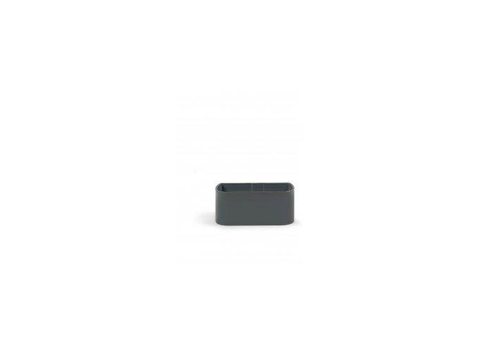 Magnetický květináč TRUHLÍK 2x6cm, tmavě šedivá