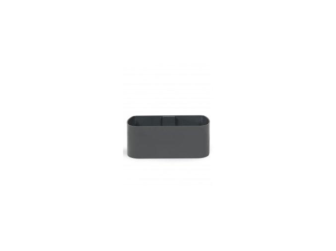Magnetický květináč TRUHLÍK 2x10cm, tmavě šedivá