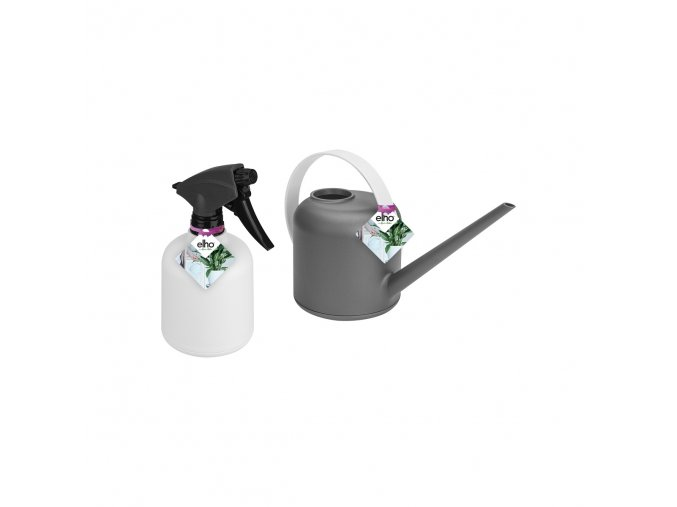 b.for soft watering can and sprayer white anthracite set pos