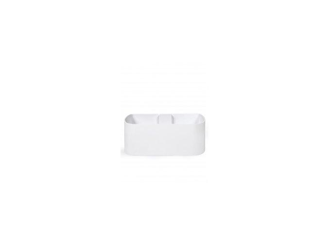 Magnetický květináč TRUHLÍK 2x10cm, bílá