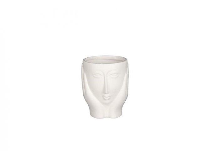 Keramický obal hlava LADY 9 cm, bílá