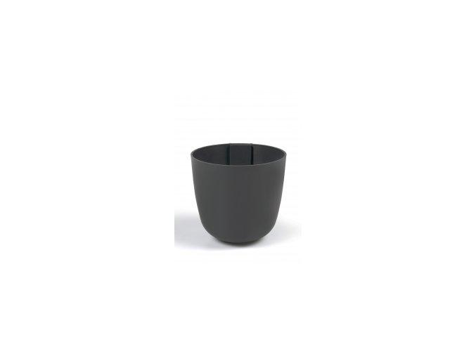 Magnetický květináč BOWL 10cm, tmavě šedivá
