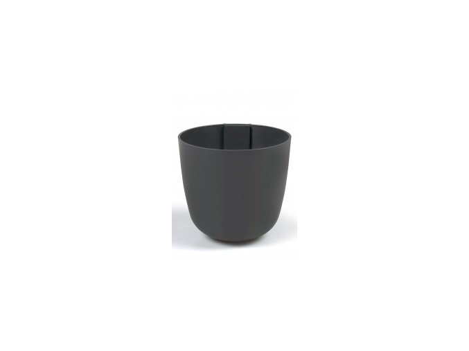 Magnetický květináč BOWL 15cm, tmavě šedivá