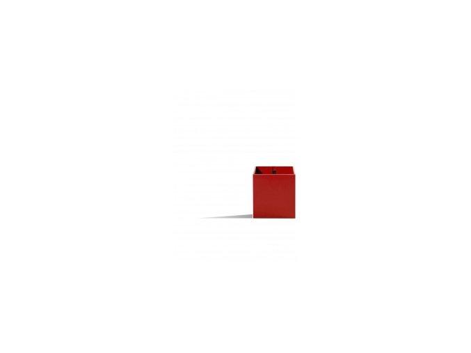 Magnetický květináč CUBE 6cm, červená