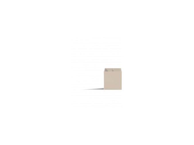 Magnetický květináč CUBE 6cm, slonová kost