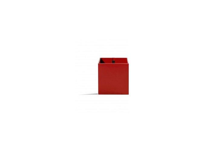 Magnetický květináč CUBE 9cm, červená