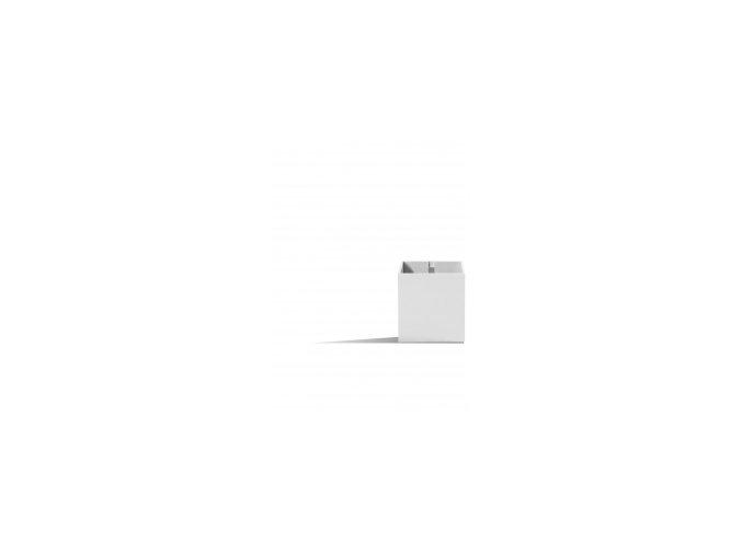 Magnetický květináč CUBE 6cm, bílá