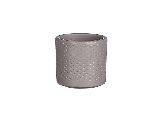 Keramický obal PALU vzor tečky 7 cm, hnědá