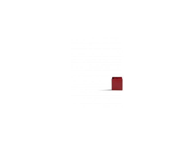 Magnetický květináč CUBE 3,5cm, červená