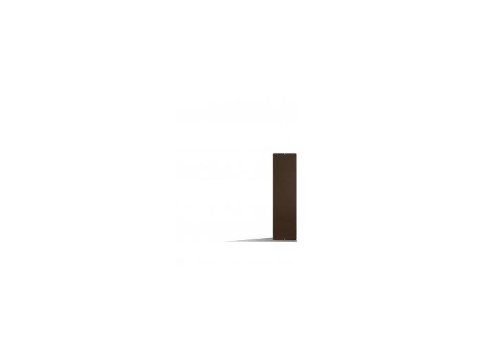 Magnetická tabule 14x50 cm, hnědá
