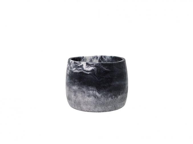 Betonový obal Luna 12 cm, černá