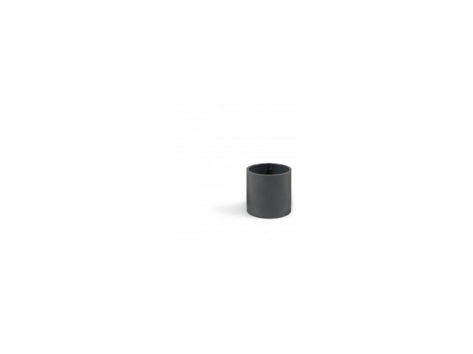 Magnetický květináč CYLINDER 6cm, tmavě šedivá