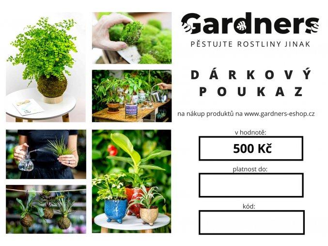 Gardners.cz Dárkový poukaz 500 Kč