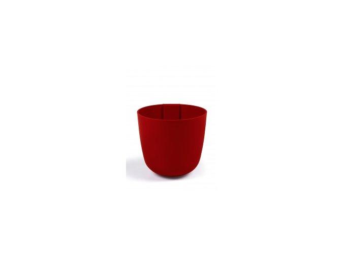 Magnetický květináč BOWL 10cm, červená