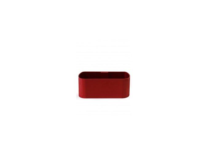Magnetický květináč TRUHLÍK 2x10cm, červená