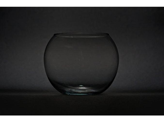 Skleněná váza boule, průměr 17cm