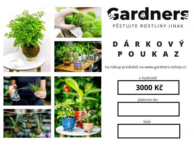 Gardners.cz Dárkový poukaz 3000 Kč
