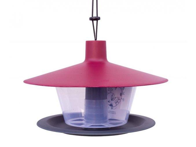 Krmítko pro ptáky Finch vínová střecha + antracit
