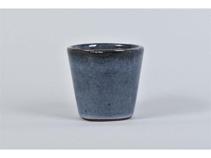 Gardners.cz Keramický květináč ALICANTE, průměr 10 cm, tmavě modrá