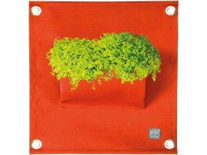 Kapsář na rostliny THE GREEN POCKETS AMMA 50x45 cm, oranžová