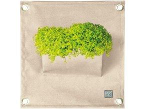 Kapsář na rostliny THE GREEN POCKETS AMMA 50x45cm, béžová