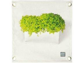 Kapsář na rostliny THE GREEN POCKETS AMMA 50x45 cm, bílá