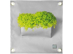 Kapsář na rostliny THE GREEN POCKETS AMMA 50x45 cm, šedá