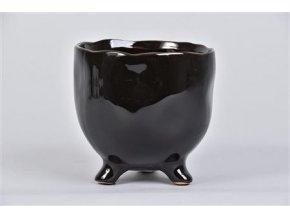 Gardners.cz Keramický květináč s nožičkami TOKIO 12 cm, černá