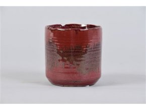 Ox Blood Bloempot Rood 10x9cm 63,20