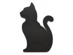 Magnetická tabule kočka 56x38 cm, černá