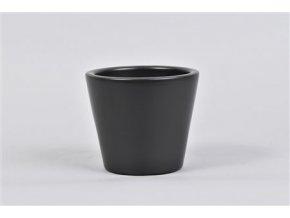 Vinci Mat Zwart Pot Container 12x10cm 47,73