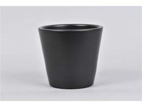 Vinci Mat Zwart Pot Container 15x13cm 61,65