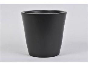 Vinci Mat Zwart Pot Container 18x16cm 74,03