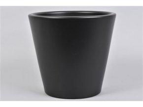 Vinci Mat Zwart Pot Container 24x22cm Wk33 179,2