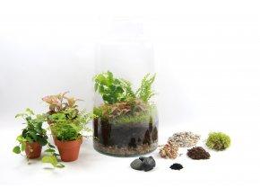 Gardners.cz Skleněná váza DIGITALIS se zúženým otvorem výška 35 cm, průměr 19 cm OSÁZEJ SI SÁM2