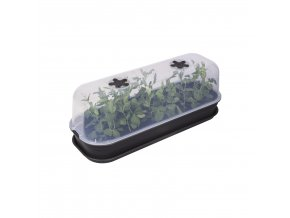 green basics grow house l living black combination tray + saucer.c1