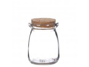 Gardners.cz Skleněná dóza ACORUS s korkovým špuntem, 9x12,5 cm
