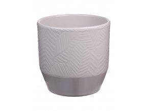 Keramický obal PIZZA LÍSTKY 13 cm, světle šedivá