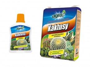 Set substrát a hnojivo pro kaktusy