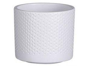 Keramický obal PALU vzor tečky 10 cm, bílá
