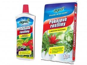 Set substrát a hnojivo pro pokojové rostliny, M