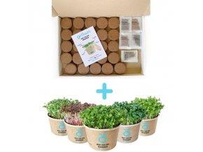 Microgreens pack - balíček pro pěstování Microgreens