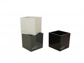 Set 3ks středních magnetických květináčů CUBE 6cm, černá