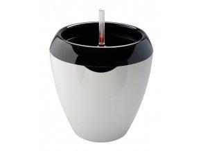 Samozavlažovací květináč Calimera A1 35 cm, černá + bílá
