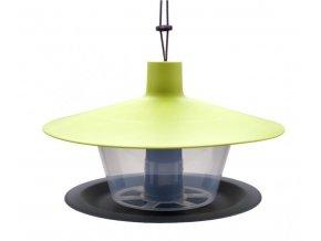 Krmítko pro ptáky FINCH, zelená střecha + antracit