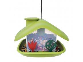 Krmítko pro ptáky Domek - zelená