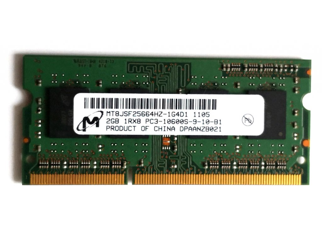 1687 1 micron 2gb ddr3 sodimm 1333mhz cl9 mt8jsf25664hz 1g4d1
